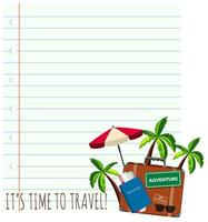 Travel theme background