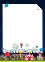 Border Template with Carnival in Background