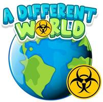 World with biohazard sign vector