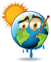 tierra del calentamiento global vector