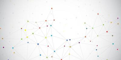 Connections dots banner vector