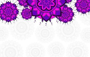 Purple, Blue Mandala Background vector