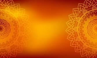 Orange Mandala Background vector