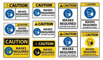se requieren máscaras más allá de este signo de punto