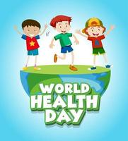 World health day with happy kids