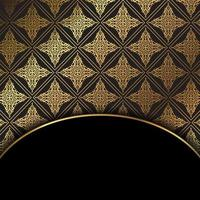 Pattern background in gold and black vector
