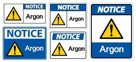 segno simbolo argon