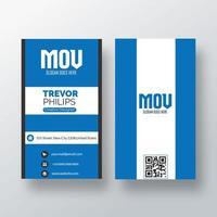 cartão de visita vertical unido azul e branco vetor