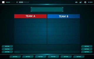 Game and teams UI interface HUD
