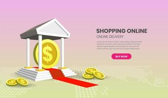 Online Banking Concept with Coins