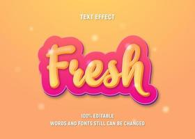 Text effect with yellow gradient on thick pink layer vector