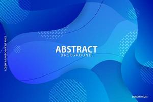 Blue gradient layered wavy and striped shapes design vector