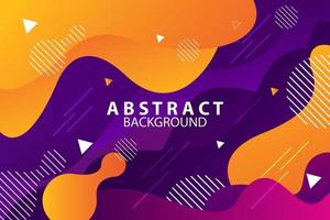 Flat orange and purple abstract memphis style background vector