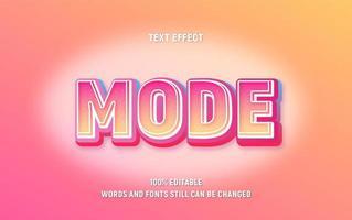 bearbeitbarer Text mit rosa und gelbem Farbverlauf mit Glitzern vektor