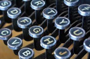 Antique typewriter English letters keyboard