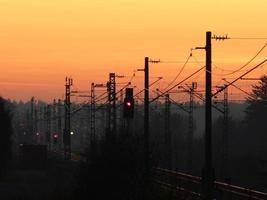 Abendstimmung an den Gleisen