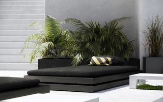 Outdoor Black Bed photo