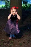 snow white little girl afraid photo