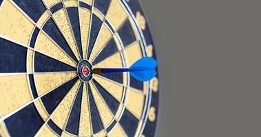 Photography of vintage yellow and black colors darts. Success hitting