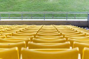 Empty seats at stadium photo