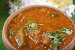 sambar es un curry tradicional del sur de la india foto