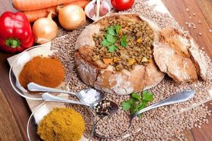traditional indian lentil dal photo