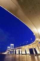 Sai Van Bridge en Macao por la noche foto