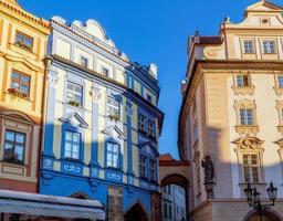 Prague: détails des bâtiments et de l'architecture