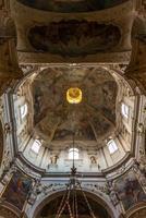Inside Saint  Ignatius Church in Prague
