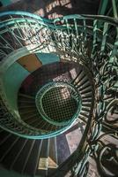Grounge, old staircase with shadows