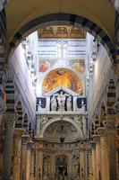 Interior of cathedral Duomo in Pisa, Italy photo