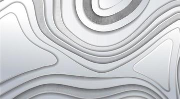 Overlapping gradient gray wave design vector