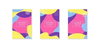 ensemble de dessins de formes géométriques dynamiques aux couleurs vives