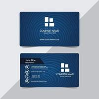Finger Print Water Mark Business Card Template