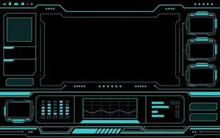 interfaz de panel de control azul hud