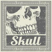 Vintage Hand Drawing Skull Poster Design
