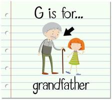 G is for Grandfather vector