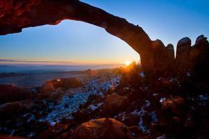arco de paisaje en el parque nacional arches,