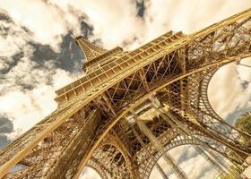 Eiffel Tower on a bright sunny day, Paris