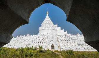 Mingun white pagoda in Myanmar
