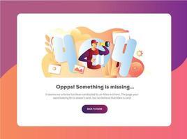 Error page 404 vector