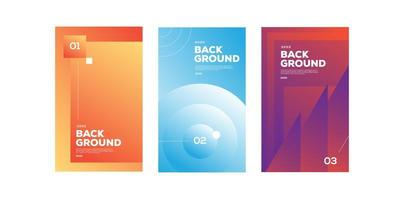 Collection of abstract gradient posters