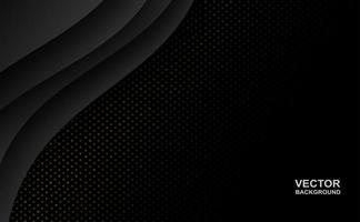 Fondo de forma de curva superpuesta negra abstracta