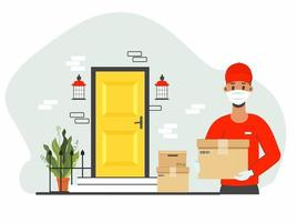 Safe courier delivery vector
