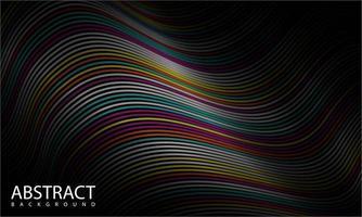 Fondo abstracto con sombra y estilo de línea colorida