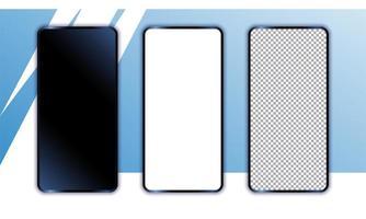 maqueta realista de teléfonos inteligentes