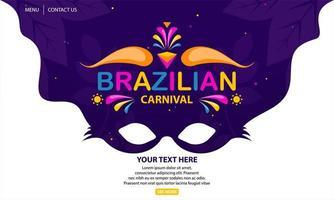fundo de carnaval brasileiro vetor
