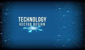 Blue technology design with connected line borders vector