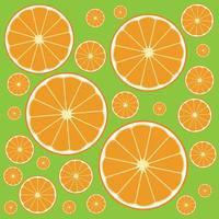 fondo con rodajas de naranja vector