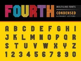 Condensed Alphabet Letter vector